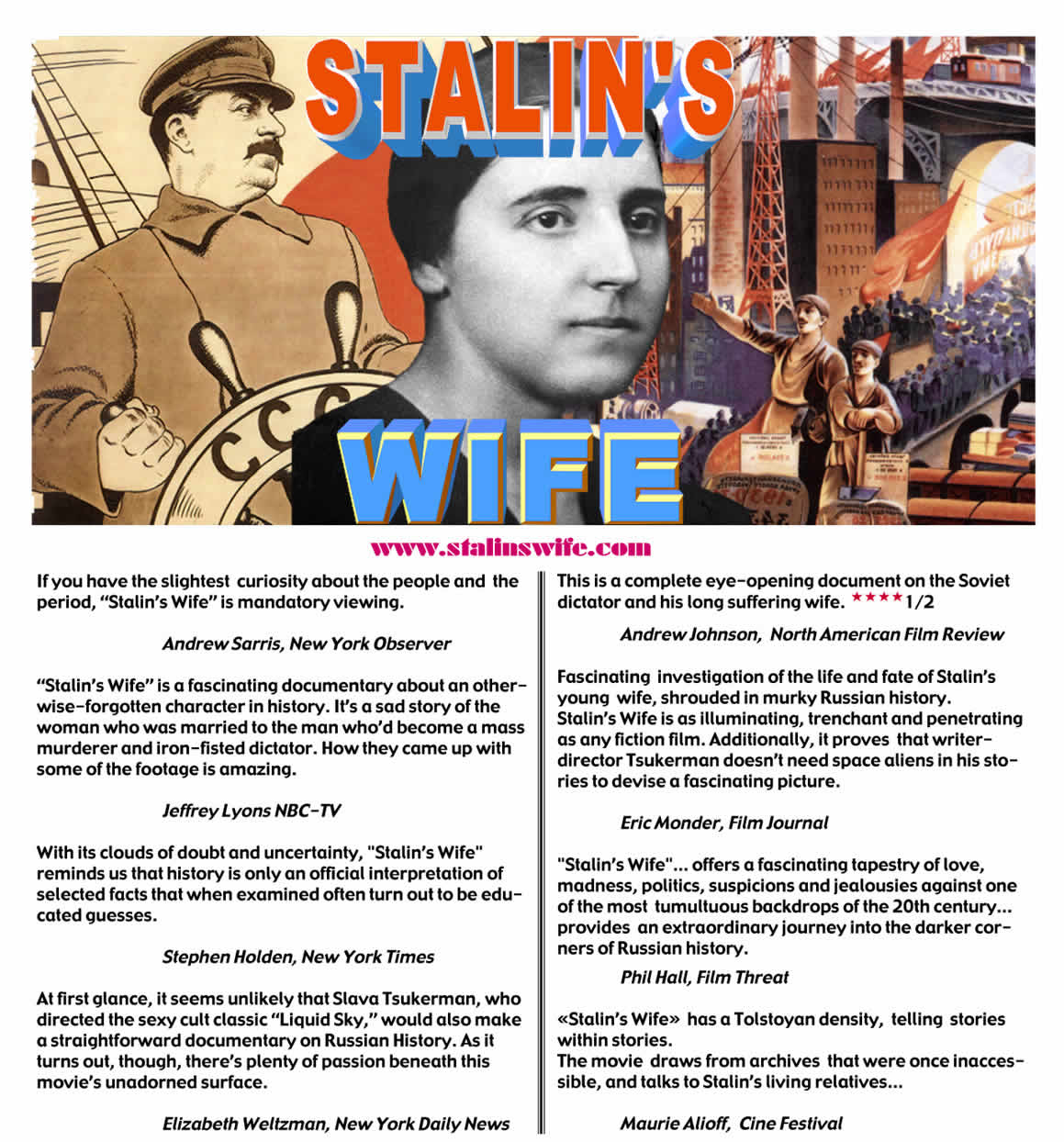 "poster image for ""Stalin's Wife,""  the new 